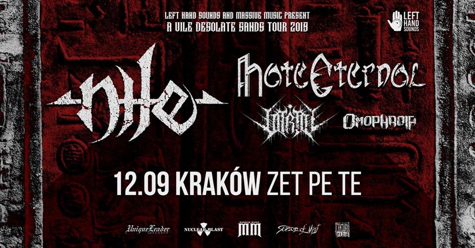 Nile, Hate Eternal + supports – 12 IX Kraków, Zet Pe Te