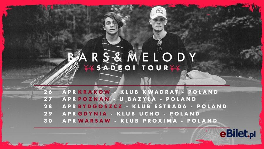 Bars & Melody – Sadboi Tour